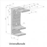 Universal Tragrohrkonsole 40mm